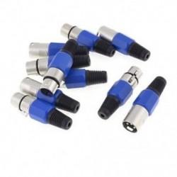 5 páros fémhüvely / férfi XLR 3 tűs Jack aljzat dugaszoló audiocsatlakozó S6N5