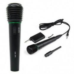 Két az egyben vezetékes és vezeték nélküli kézi mikrofonvevő egyirányú fekete A R5K5