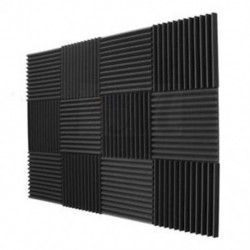 12 Pack akusztikus panelek hab Műszaki szivacs Ékek Hangszigetelő panel T1Y2
