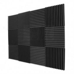 12 Pack akusztikus panelek hab Műszaki szivacs Ékek Hangszigetelő panel U6L6