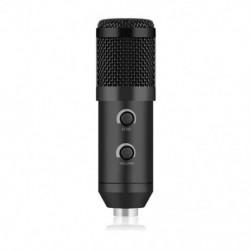 fekete - BM 900 USB mikrofon számítógép kondenzátor stúdiójához Karaoke Mic H5Y7