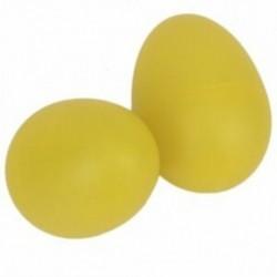 1 pár műanyag ütős zenei tojás Maracas rázógépek sárga V0C4
