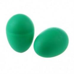 2 műanyag zöld tojás Maraca csörgős rázógép ütős gyerek zenei játék I5H1