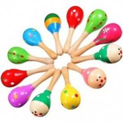 12 darab Maracas Maraca Party számára a Fa Maracas színes Mini Mar I1B2
