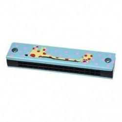 Fából készült zsiráf mintázat, kettős sorozat, 32 lyukú harmonika gyerek kék B8J7 W4Y0