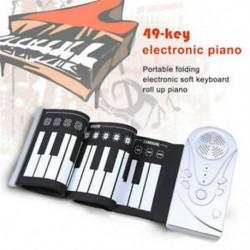49 kulcsos hangszóró kézi tekercs elektronikus zongora hordozható összecsukható elektronikus puha D5G0