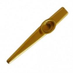 Fém aranysárga Kazoo  2 membrán furulya hangszer ajándék D8W4