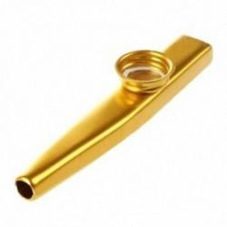 Metal Kazoo furulya száj hangszer Harmonica forró értékesítési gyakorlati arany R6E8