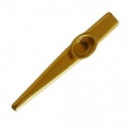Fém Arany Sárga Kazoo  2 membrán furulya hangszer L4H5 Q1I8