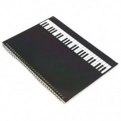 1X (50 oldalas zongora Kéziratos papírlapú jegyzetfüzet spirálkötésű Q3R7)