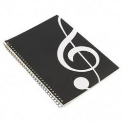 1X (50 oldalas Magasszimbólum Kéziratos papír Stave Notation Notebook spirál B E4S8
