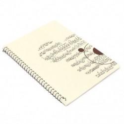 2X (50 oldalas kis medve zenei lap kéziratú papír, Jegyzettömb, Notebo V4H7