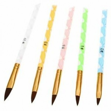 1X (5db akril köröm art UV gél faragású tollkefe folyékony por DIY No. 2/4 M9R3