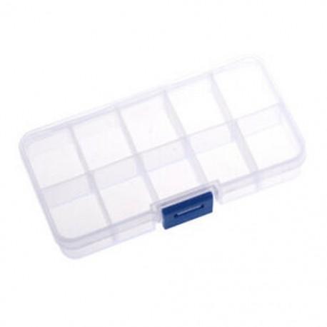 2X (1-10 rekeszes műanyag tárolódoboz átlátszó a Jewelr E4G1 gyöngycsaphoz