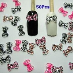 3X (Nail Art 3d 50 keverék PRINT BOW / RHINESTONE körmökhez, mobiltelefonokhoz A6G1)