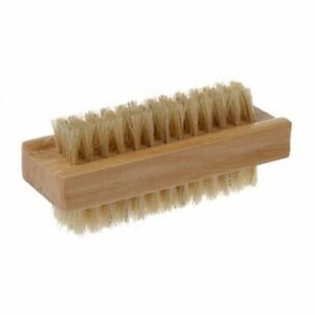 2X (fából készült kétoldalas fogantyú nylon sörte manikűr pedikűr súroló Nai F4N2