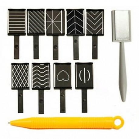 11db / készlet Nail Art eszköz mágneses toll a DIY Magic 3D mágneses macskák szeméhez Poli A6P9