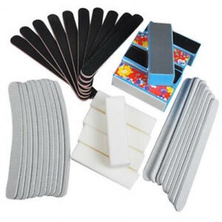 40PCS Nail Art Styling eszközök Körömreszelő csiszoló szalon manikűrhez UV J6S8