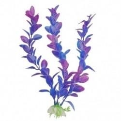 1X (23 cm magasságú lila kék műanyag növények díszek az Aquarium C4Z2-hez)