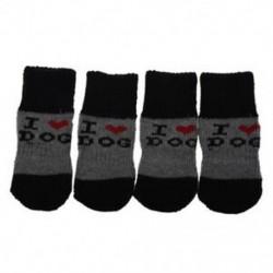 1X (téli bordás sarok-akril cipő viseljen zoknit V3C7 kedvtelésből tartott kutya számára)