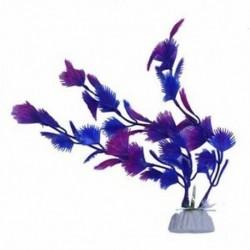 1X (Mesterséges növényi kék lila műanyag akvárium dekoráció D2A6)