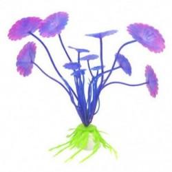 Dekorációs műanyag szimulált tengeri növények növényvilága az akvárium haltartályához, lila S1L1