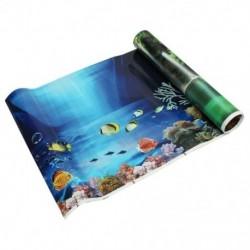 1X (kék friss tengeri háttér akvárium óceán tájkép poszter haltartály vissza S2J5