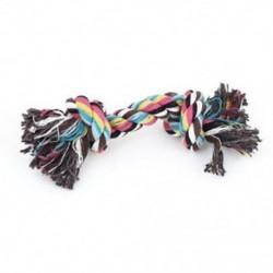 1X (családi kutyák háziállatok többszínű fonott kötélcsontos rágócsontos vontatójáték 18cm L Y5O2