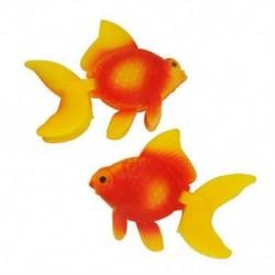 2 db narancssárga piros műanyag műfüves aranyhal a BT V S7O2 akvárium dekorációjához