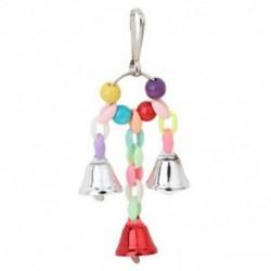 Papagáj madár játékok fém gyűrű csengő függő ketrec játékok Par D1U7 papagáj mókus