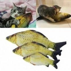 Kedvtelésből tartott macska játékok aranyos hal alakú rágó játék-szimuláció kitöltött hal Catni H8O3-tal