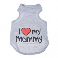 Szeretlek Anyu kutya pólót, nagy S2F5