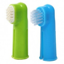 2X (orális fogkefe készlet   masszázs ujjkefe ápoló fogkrém kutyának P E8T2