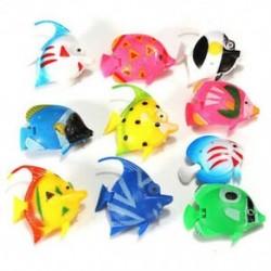 1X (10 db műanyag hamis hal N8L3 akvárium dekorációhoz)