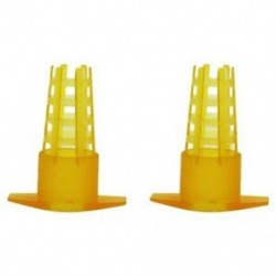 30 db méhészeti eszköz Sárga műanyag méhkirálynő ketrec védőborító Beeke C8X2