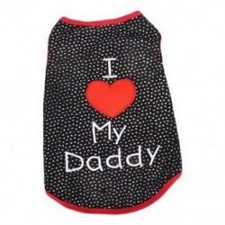 Aranyos szeretlek apukám kis kutya macska kisállat ruházat póló ruházat ruhák Deco E3L1