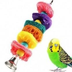 1X (papagáj-játékok mászó rágó játék függő Cockatiel papagáj mászó rágó ketrec B6K8