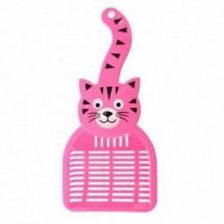 2X (Rózsa piros macska mintás műanyag kisállat kutya macskák alom Scoop R5C7)