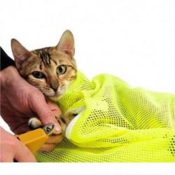 1X (kedvtelésből tartott macska ápoló mosófürdő táska, kaparós harapós visszatartó poliészter I2Y6