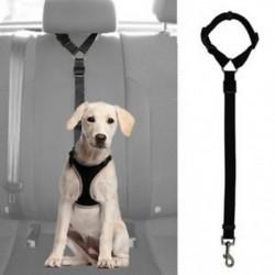 Kutya macska háziállat biztonsági állítható biztonsági öv hevederrel póráz utazási csipesz C5R5