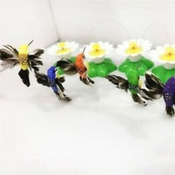 2X (macska elektromos forgó játék, színes madarak állati játékok műanyag vicces kisállat I T1Z1