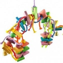 1X (Madárcsomók blokkoló rágó játékok-papagáj játékok) Madár játékok (nagy madárhoz Y0G0