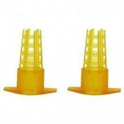 4X (30 db méhészeti eszköz Sárga műanyag Bee4K2 védőhuzat