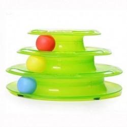 ricsung Háromrétegű kisállat játékok Őrült intelligencia tálca játék Macskajáték E8L2