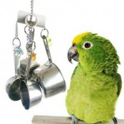 Rozsdamentes acél madár papagáj játék, kisállat madár ketrec játék lógó játék kis Pa Q6Q4