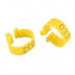 2X (100 db 001-100 számozott lábszalag, 18 mm-es gyűrűk a csipeszes tyúk Ch D2T5 rögzítéséhez)