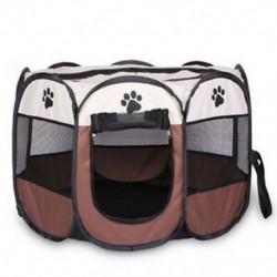 1X (hordozható összecsukható kisállat sátor Kutyaház ketrec kutya macska sátor játszótéren kölyök Kenn G6Y3