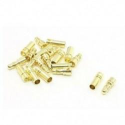 10 pár arany tónusú fém banán golyócsatlakozó dugaszos dugaszoló csatlakozó 3,5 mm-es G6L3