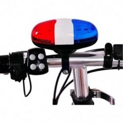 Kerékpár csengő 6 LED 4 hangú kürt LED-es könnyű elektronikus sziréna kerékpár csengő az L1X3-hoz