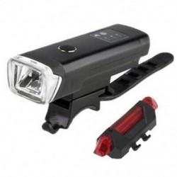 Kerékpár fényszóró Kerékpár hátsó lámpák, usb újratölthető kerékpár LED elülső és M0X6